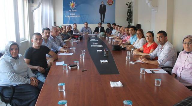 AKP Gebze SKM ilk toplantısını yaptı