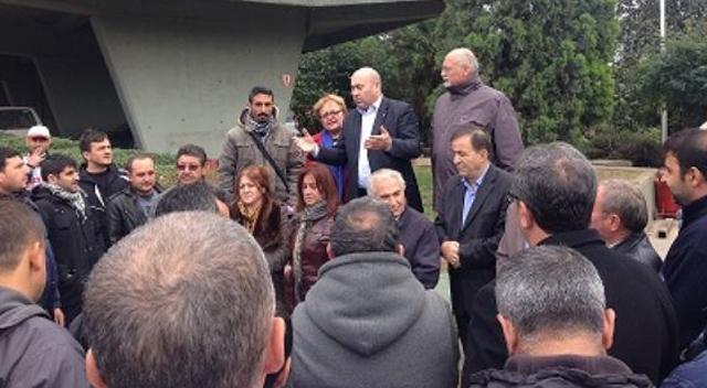 CHP'lilerden Feniş işçilerine destek