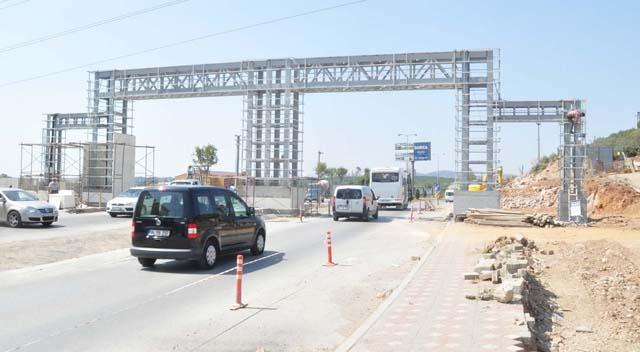 Giriş kapısı inşaatı devam ediyor