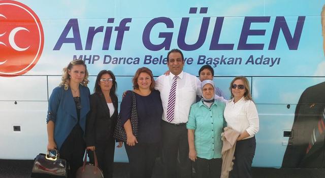 Arif Gülen'in sloganı 'Gülen Başkan, Mutlu Darıca'