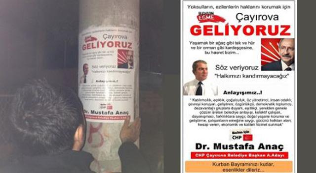 Çayırova'da her yer Anaç afişleri donatıldı