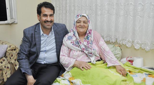 Başkan Yaman Hasta Ziyaretinde