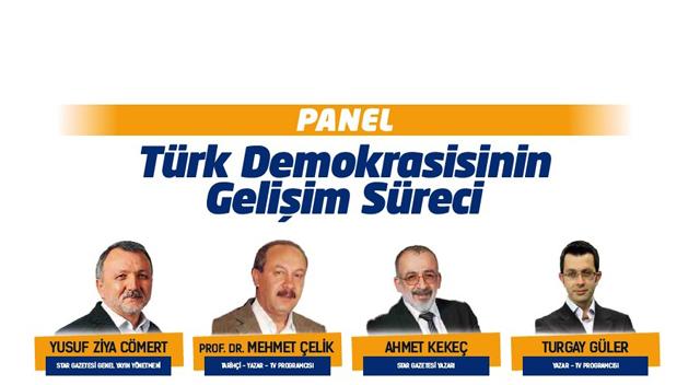 Yazarlar Türk demokrasisini konuşacak