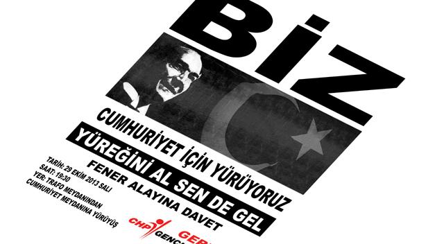 CHP'li gençlerden meşaleli yürüyüş