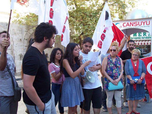 TGB'liler gözaltılıları protesto etti