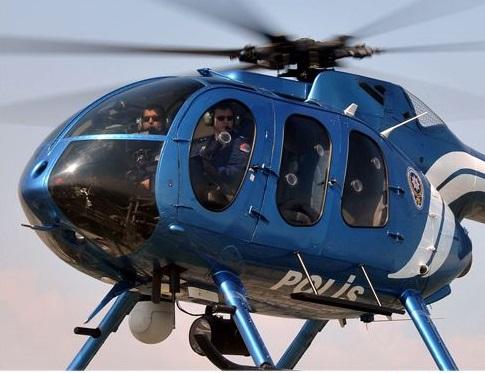 60 ayrı adrese helikopter destekli operasyon