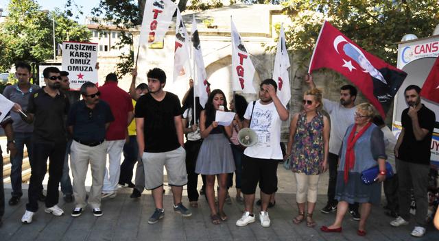 TGB'liler den gözaltılara protesto