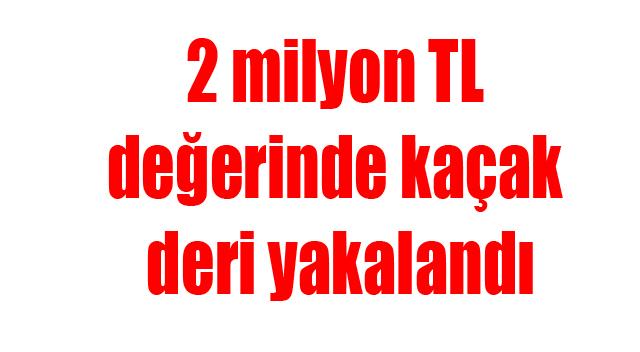 2 milyon TL değerinde kaçak deri yakalandı