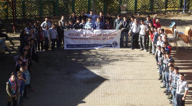 İzciler Atatürk için bir araya geldi