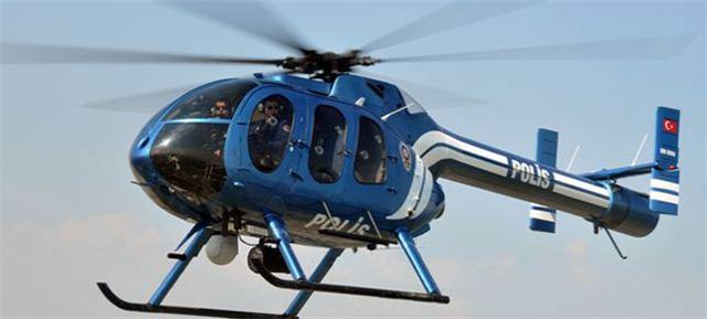 Bayramda yollara helikopterli denetim