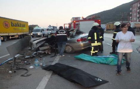 Feci kaza, 2 ölü, 3 yaralı