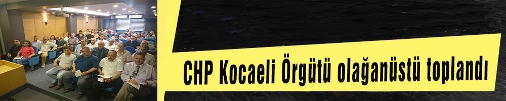 CHP Kocaeli Örgütü  olağanüstü toplandı