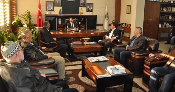 Gümüşhanelilerden Başkan Yaman'a ziyaret