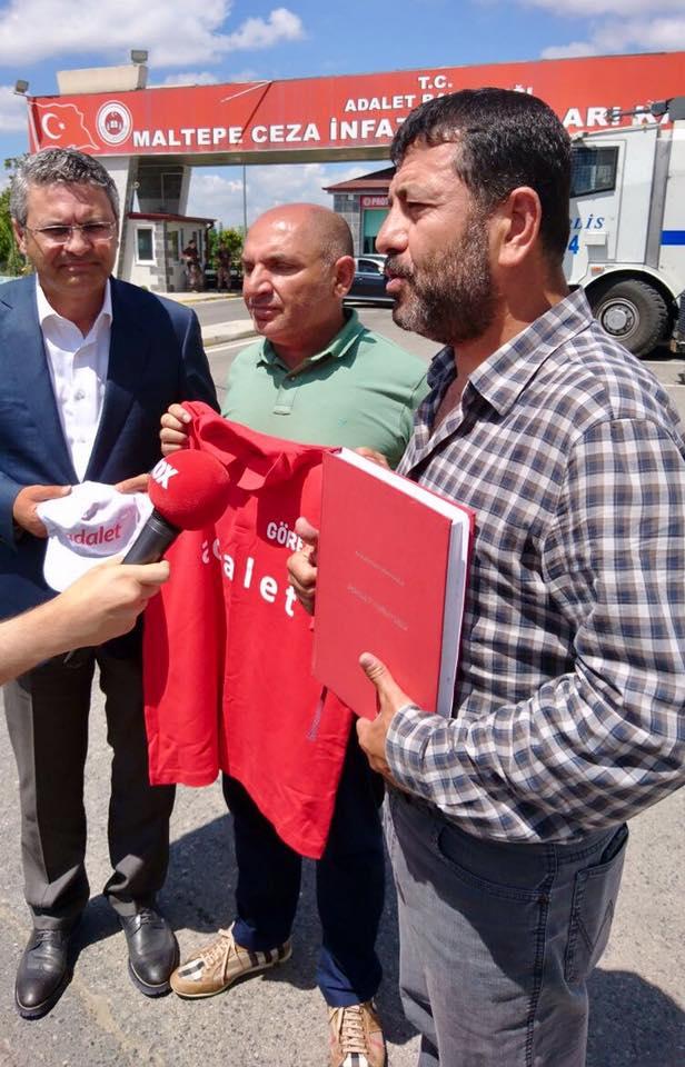 Tarhan, Enis Berberoğlu'nu ziyaret etti