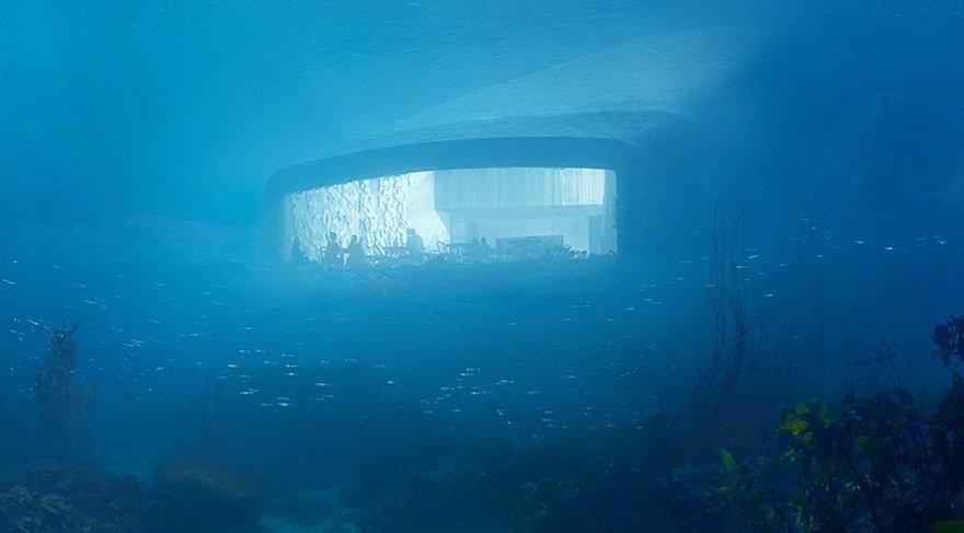 Avrupa'nın ilk denizaltı restoranı Norveç'de açıldı…
