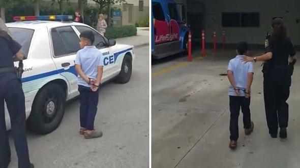ABD'de 7 yaşındaki çocuğa kelepçe