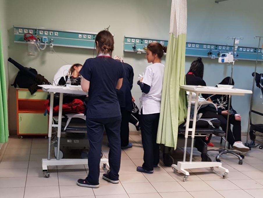 Öğrenciler hastanelik oldu