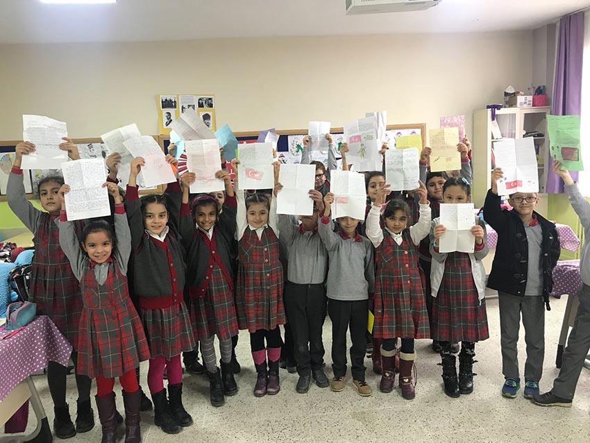 Miniklerden Afrine mektuplar
