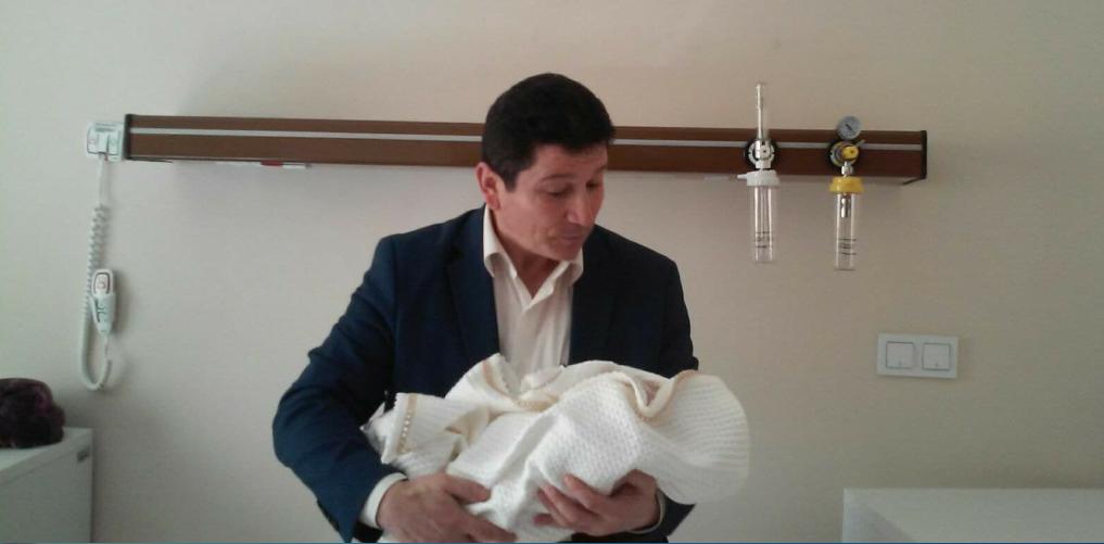 Mustafa Arslan üçüncü kez baba oldu
