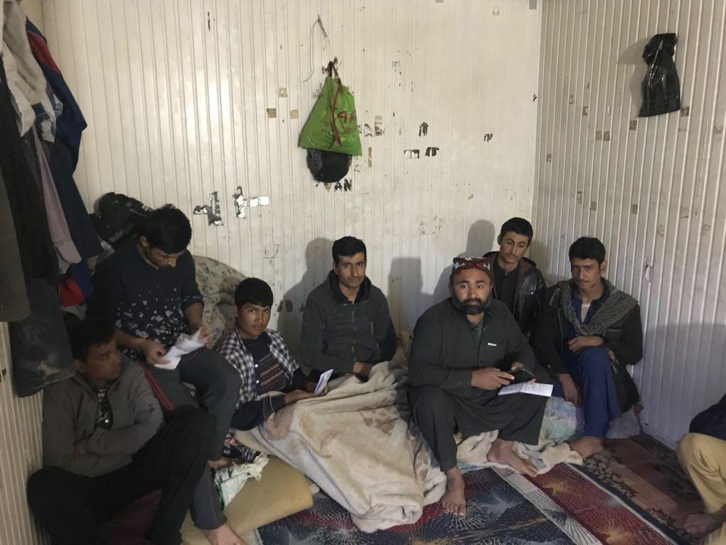 35 Afgan kaçak yakalandı