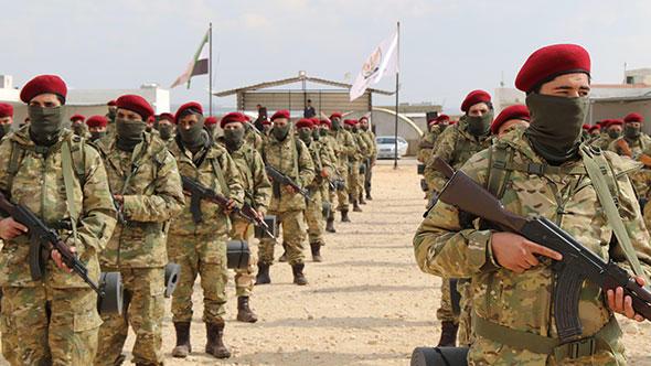 """Afrinli """"Kürt Şahinleri"""", YPG/PKK'ya karşı savaşacak."""