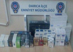 Bin 566 paket kaçak sigara ele geçirildi