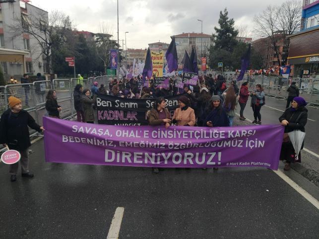 Kadınlar Bakırköy'de buluştu: Özgürlüğümüz için direniyoruz