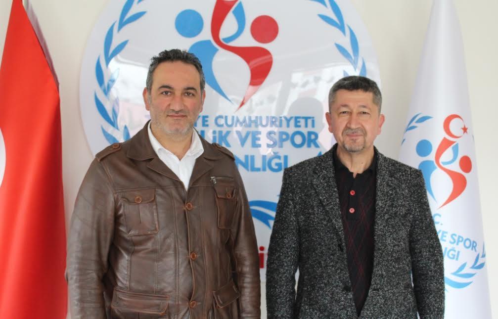 Rıdvan Şükür, Kızılcahamam ilçe spor müdürünü'nün misafiri oldu