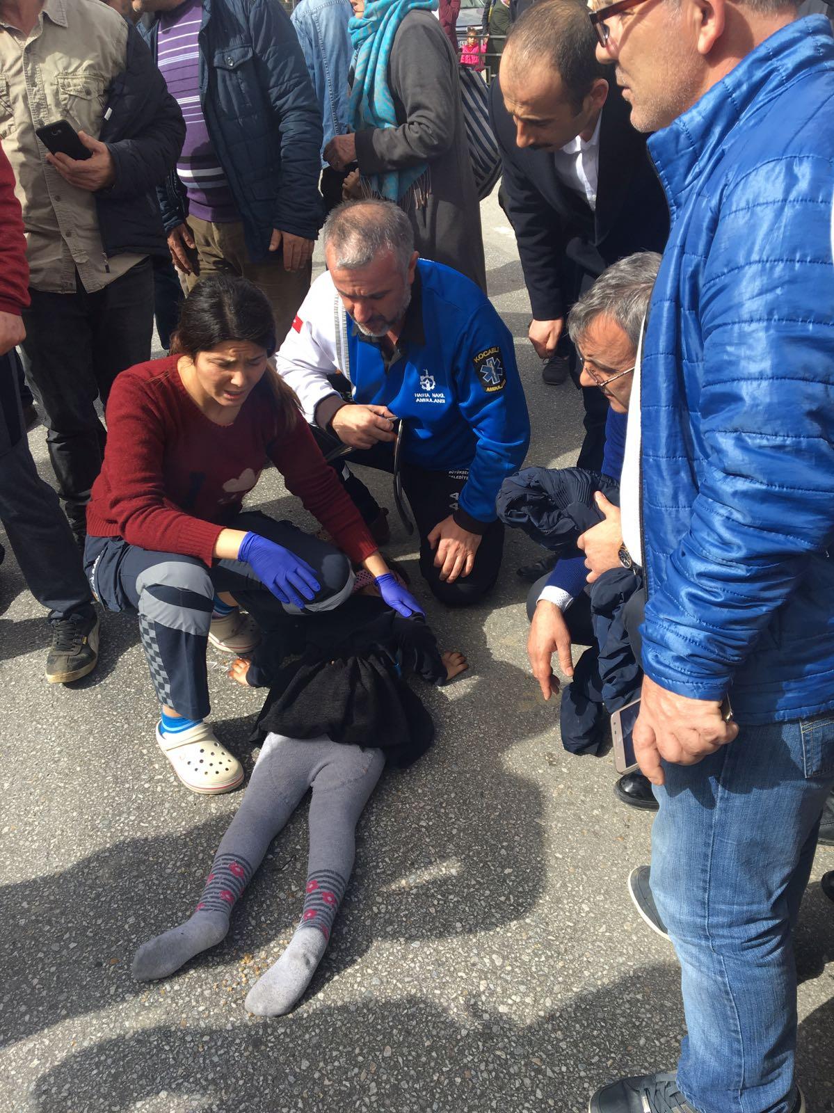 Suriyeli baba ile kızı yaralandı