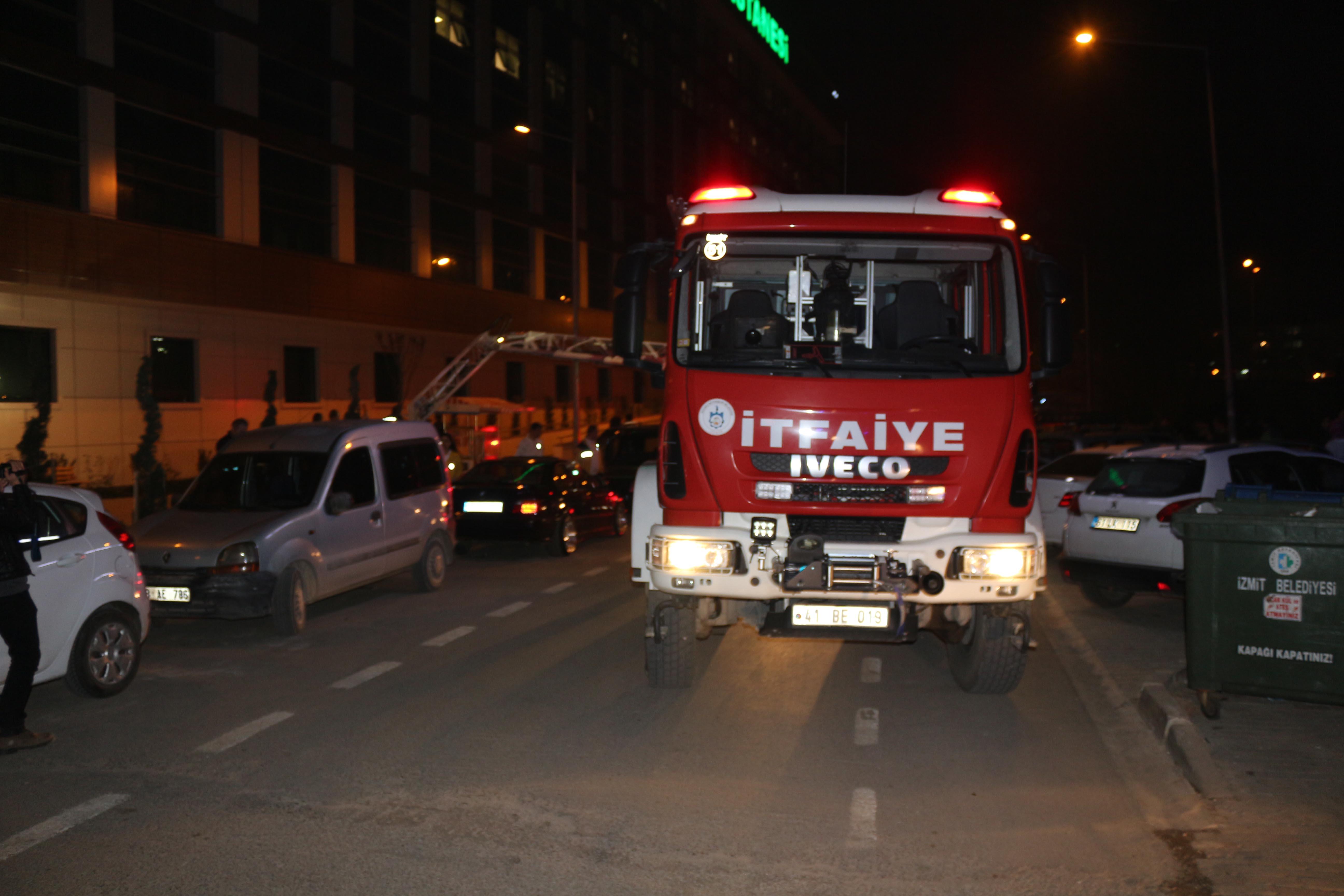 Devlet Hastanesi'nde yangın çıktı