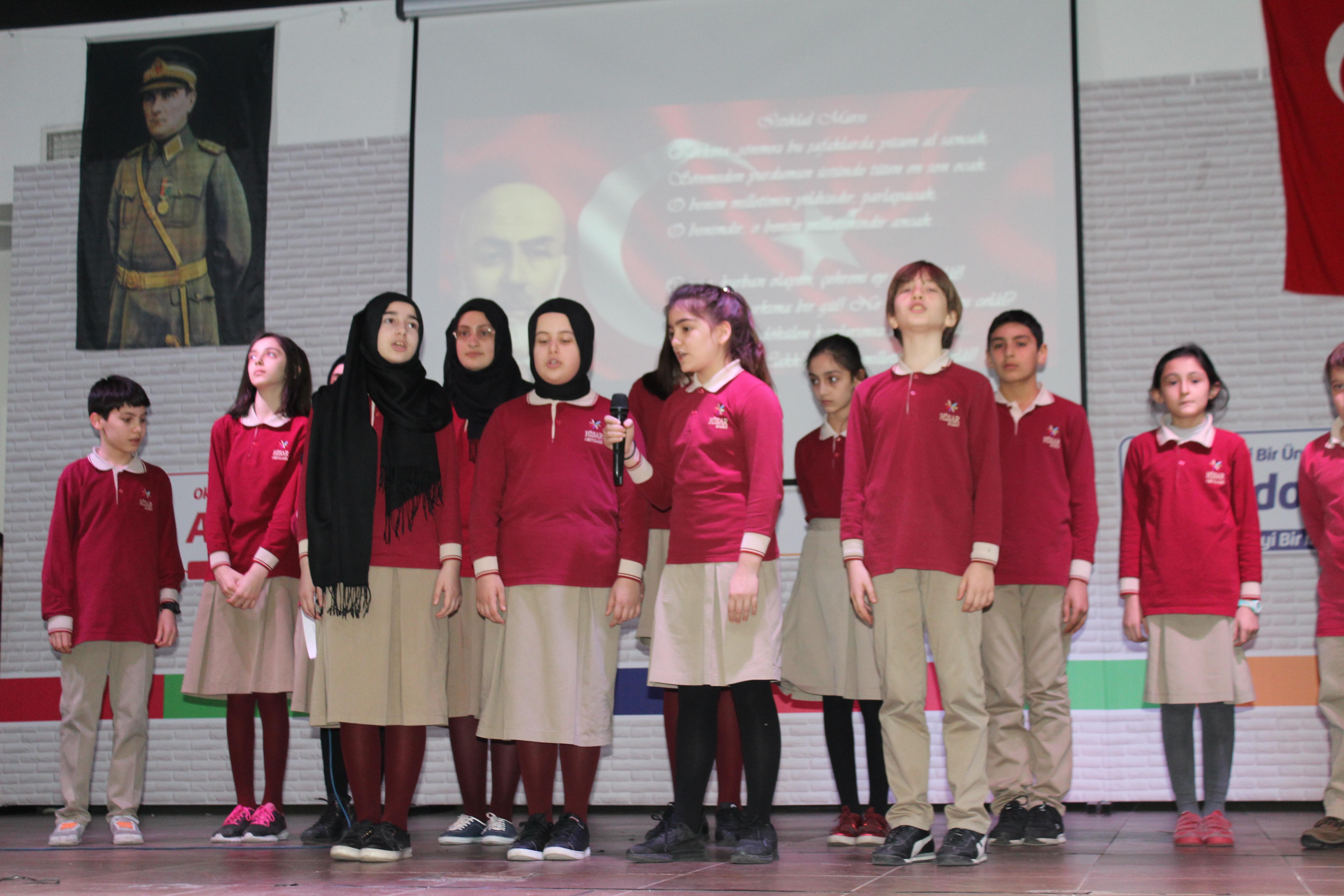 Hisar Koleji Mehmet Akif Ersoy'u unutmadı
