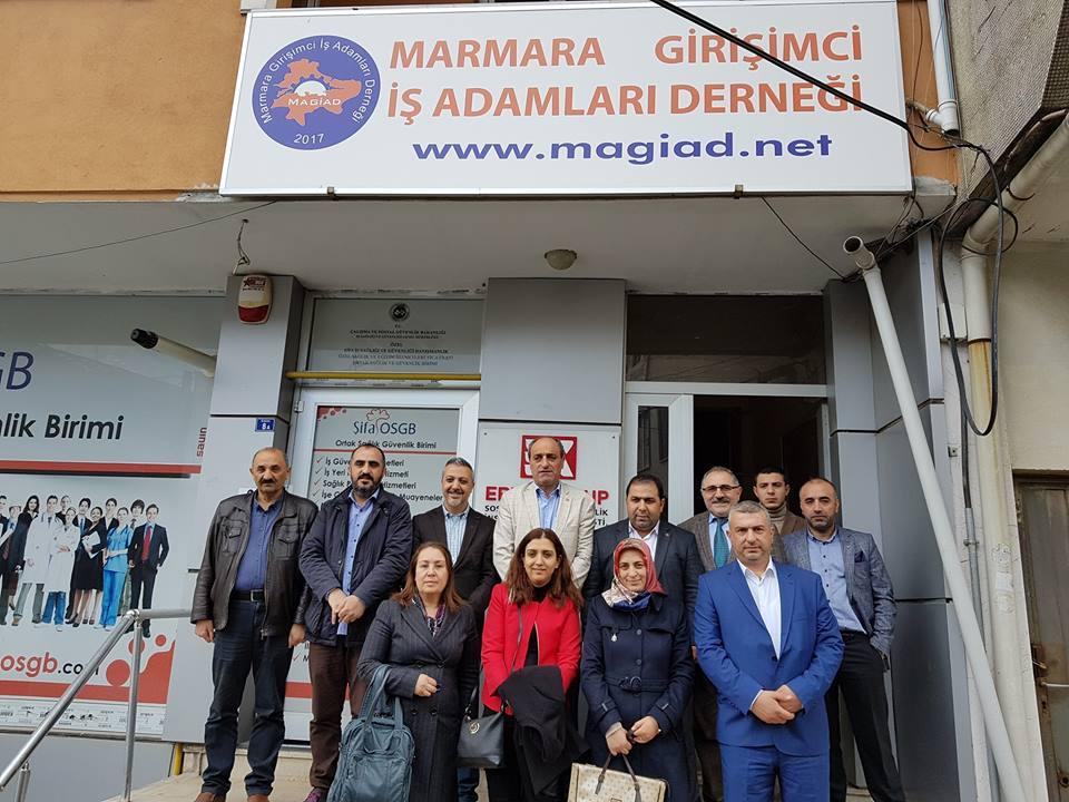 CHP'den MAGİAD ziyareti