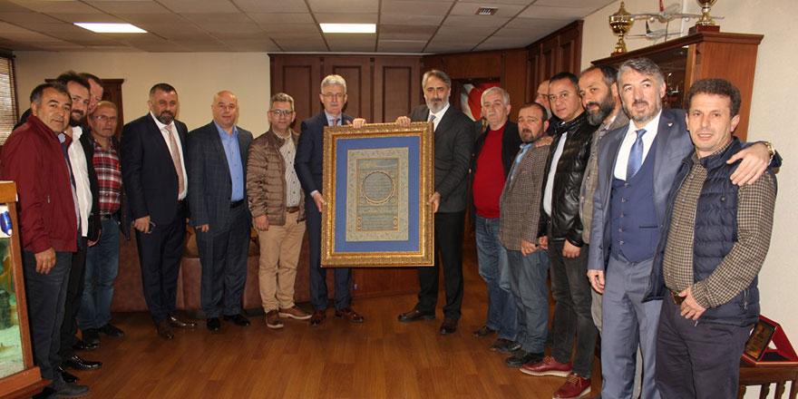 Federasyondan Ellibeş'e teşekkür ziyareti