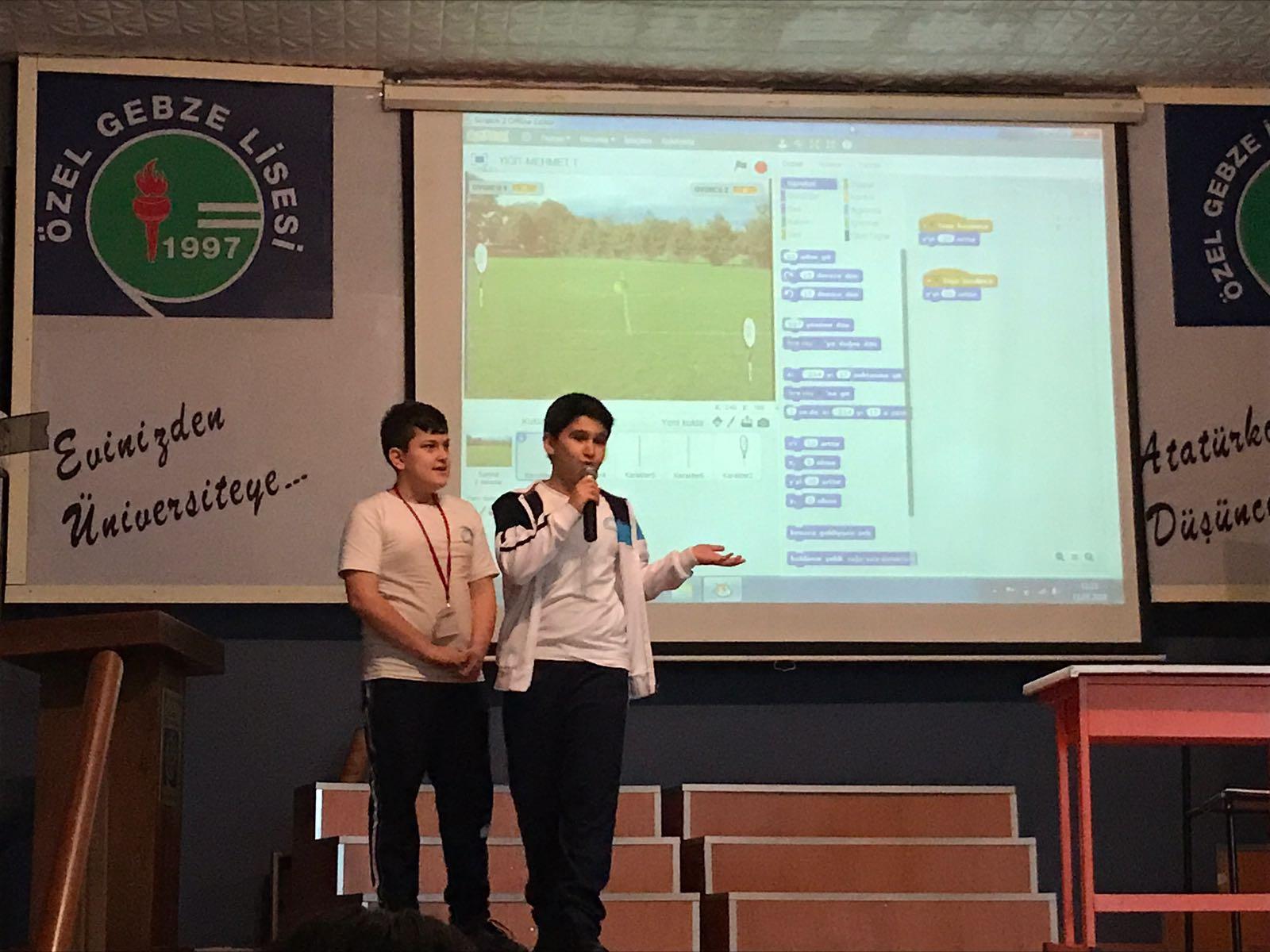 Özel Gebze Eğitim Kurumları'nda kodlama yarışması