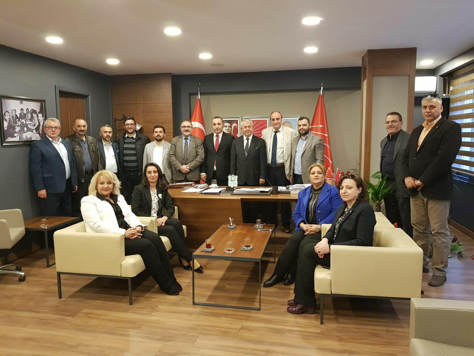CHP Gebze'den İl Başkanlığına Ziyaret