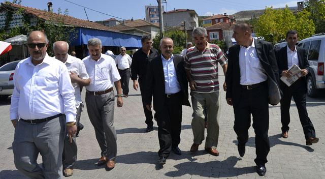 Köylerden Dalkılıç'a destek