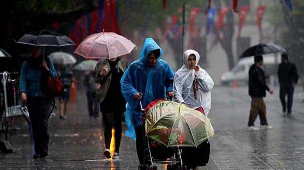Hava soğuyor, sağanak yağmur var