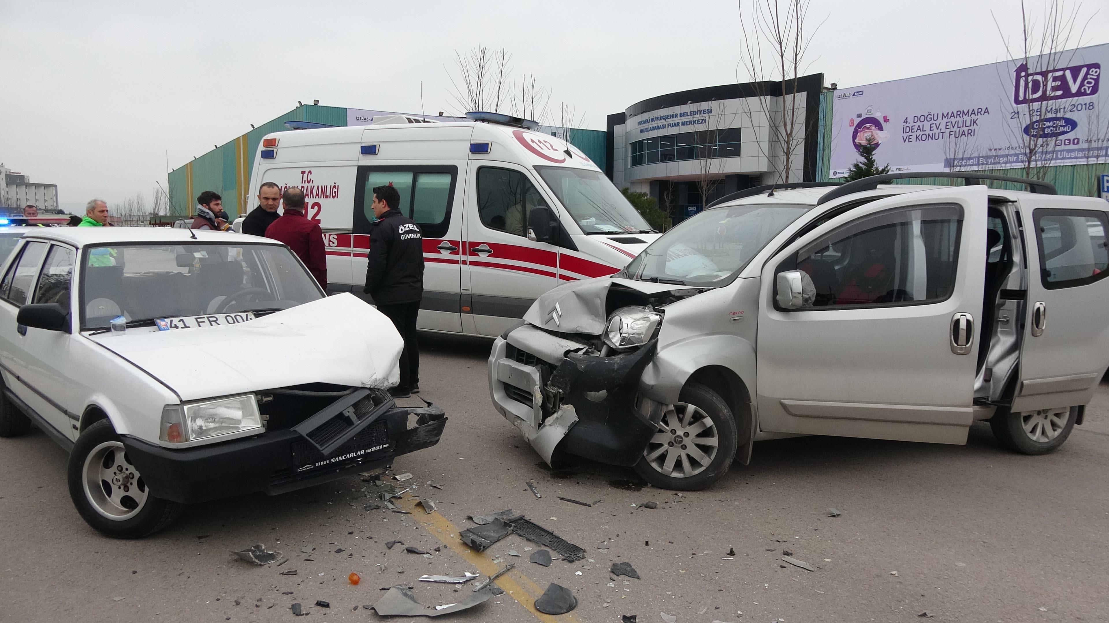 Fuar alanında kaza: 3 yaralı