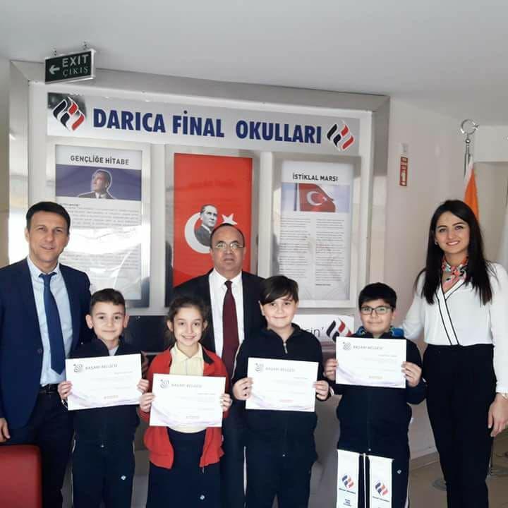 Darıca Final öğrencileri Türkiye 1'ncisi