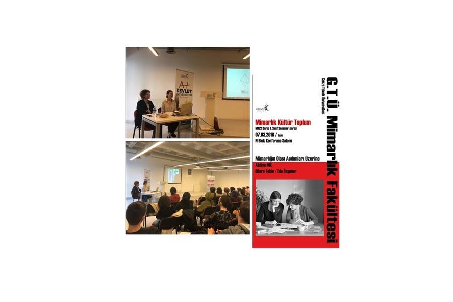 Mimarlık Kültür Toplum Seminer Dizisi