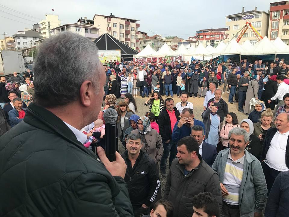HAMSİ FESTİVALİNE KATILDI