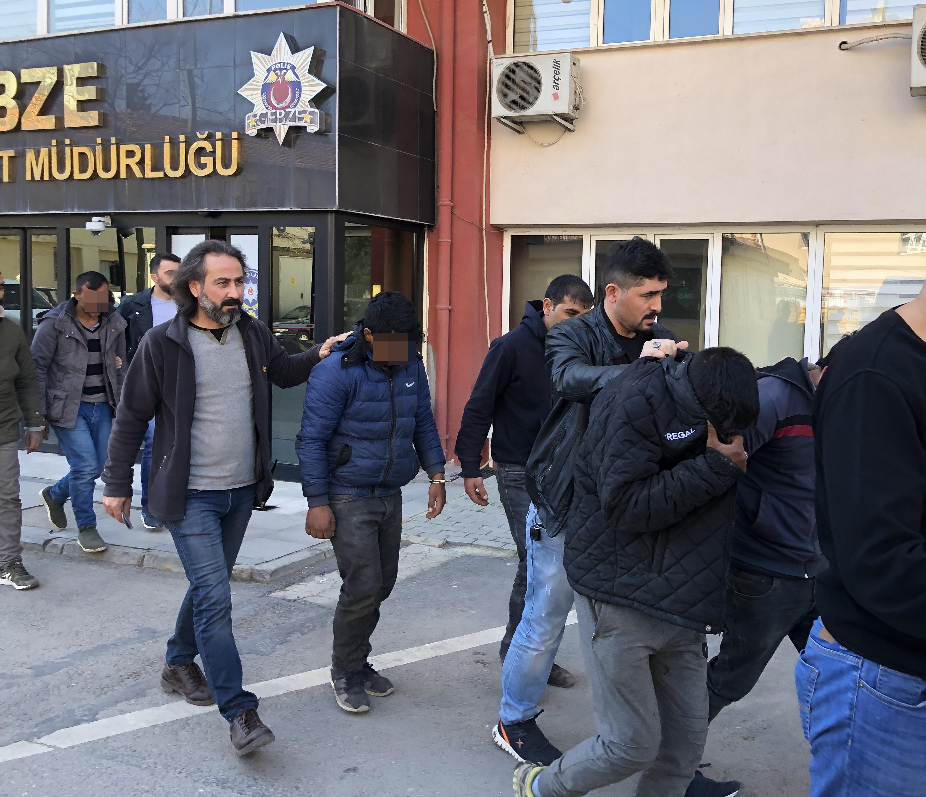 İnşaat hırsızları tutuklandı