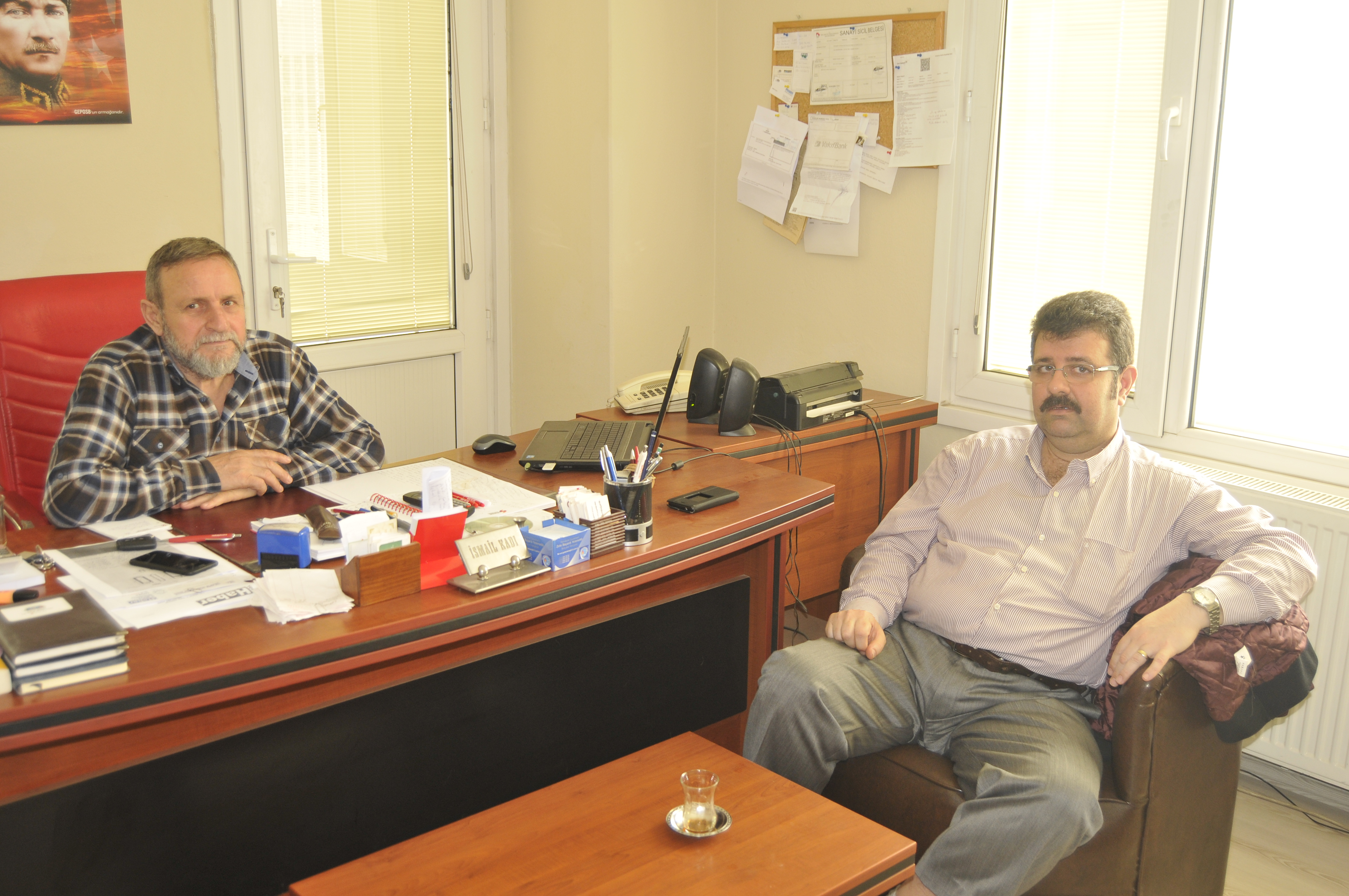 Serdar Tüze'den gazetemize ziyaret