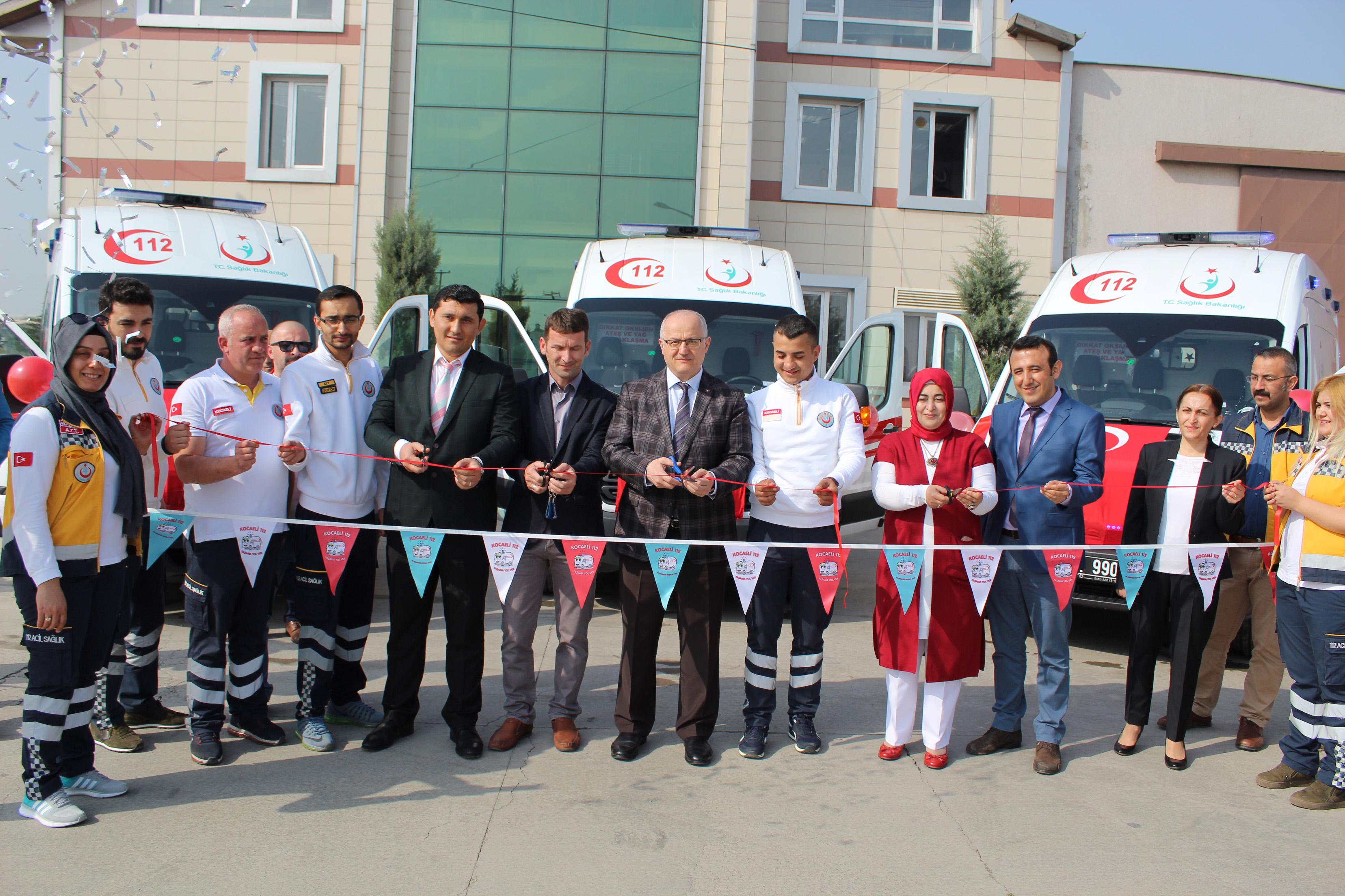 3 yeni ambulans hizmete girdi