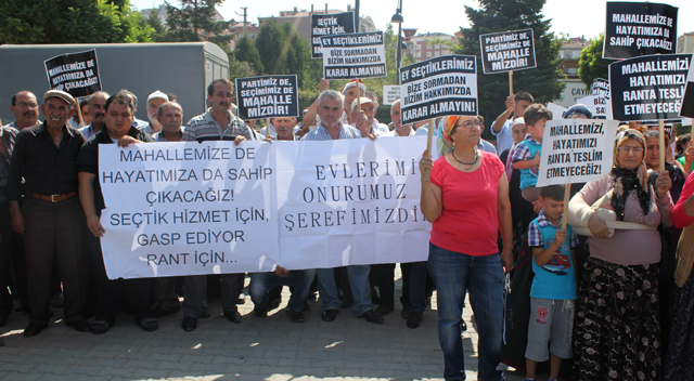 'Mahallemizde kentsel dönüşüm istemiyoruz'