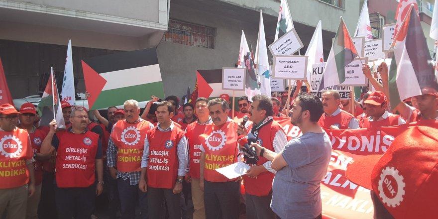 'Mazlum Filistin halkı yalnız değildir'