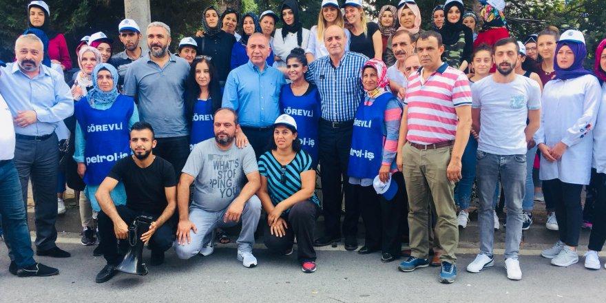 Gürsel Tekin'den Flormar işçilerine destek