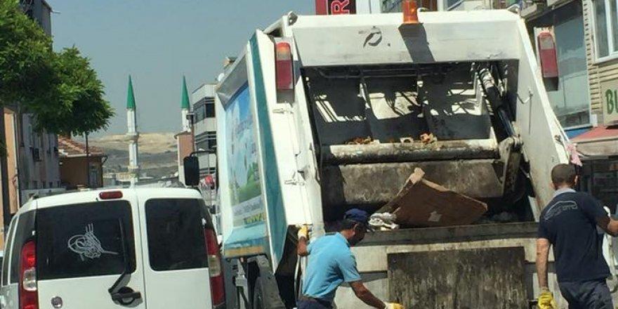 Belediyenin gündüz vakti çöp toplamasına tepki