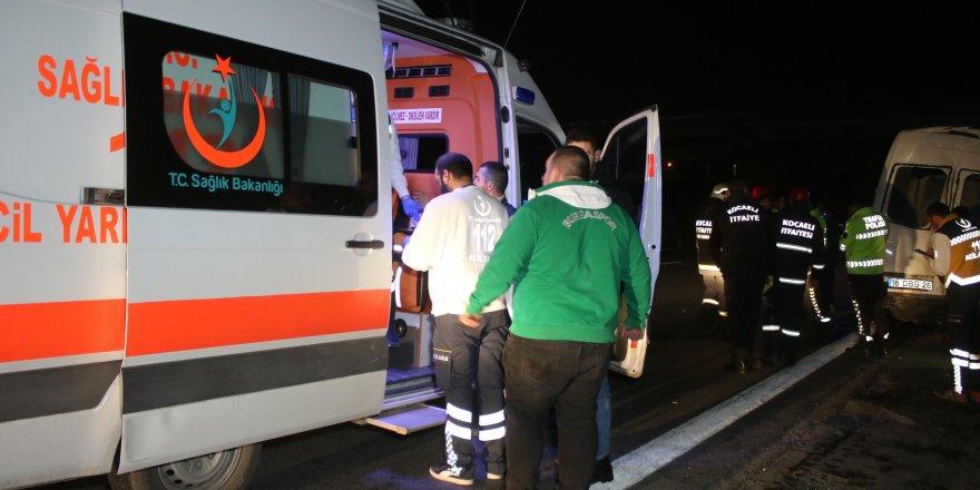 GEBZE'DE KAZA: TIR minibüse çarptı: 10 yaralı