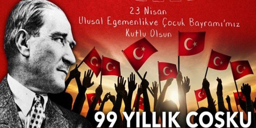 23 Nisan Ulusal Egemenlik ve Çocuk Bayramı'nın99'uncu yılı